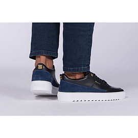 Mason Garments Sneakers - Zwart/blauw